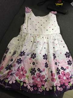 Floral Formal Dress purple polka dot
