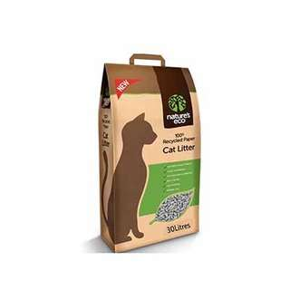 30L Eco Nature's Recycled Paper Cat Litter