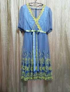 純蠶絲刺繡洋裝 13