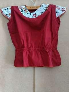 Baju Atasan Anak Merah
