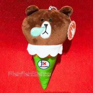 🚚 全新 可愛熊大冰淇淋造型玩偶娃娃