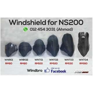 Windshield Pulsar NS200