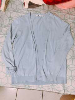 UNIQUL 天空藍棉質薄外套 #一百元好物