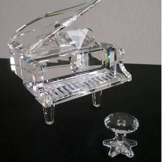 70 Swarovski Crystal - Grand Piano With Stool (Signed)