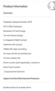 Preloved IPAD MINI 2 WIFI ONLY 16GB