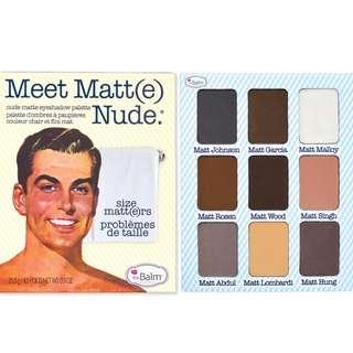 theBalm Meet Matt(e) Nude Palette- BRAND NEW
