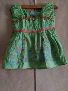 Dress Anak Guess Hijau