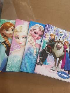 ♧♧SALE!  Brand New Frozen Notebook X 4 (21x 14cm)