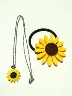 Sunflower Necklace + Pony