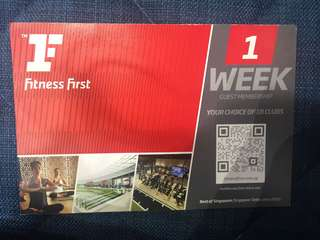 Fitness First 1 week guest membership pass