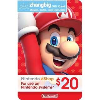 Nintendo eshop Gift Card USD20
