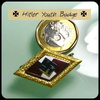 Nazi Wehrmacht National Socialist german army HITLER YOUTH Lbadge world war 2