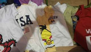 assorted shirts (7pcs for 350)
