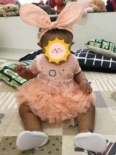 Peach Tutu Skirt (6-12M)