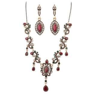 Vintage Turkey Jewellery Set (Necklace + Earrings)