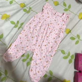 Cotton On Baby Pink Overalls(6-12M)