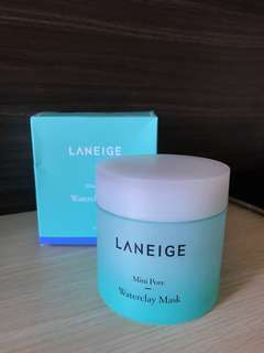 Laneige waterclay mask mini pore full size new