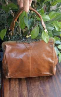 Nice Antigue Style Leather Satchel