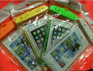 2手 10個防水袋 夜光手機防水袋 6吋以下 通用 蘋果 三星 SONY HTC LG 手機袋 游泳 防水套