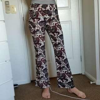F21 Paisley Boho Pants