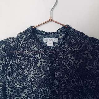 Leopard Printed Blouse from Cotton On