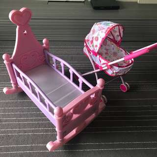 Doll Cradle and Stoller