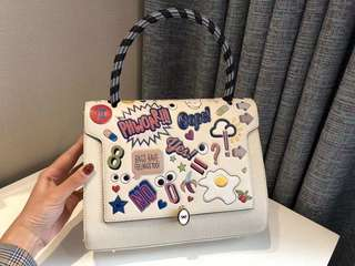 Anya Hindmarch Bathurst Sticker Printed Leather Bag