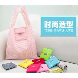 🚚 便攜折疊環保購物袋/超市手提袋/家用時尚收袋納 (任選3入)