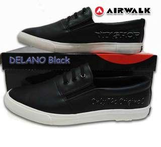 AIRWALK DELANO BLACK. SLIP ON 100% ORIGINAL. AIWX7F1001BK