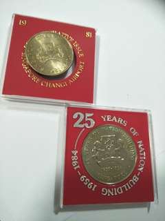 2 sets of sg $5 coins  2pc x 15=$30