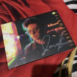 James Reid's CD ALBUM PALM DREAMS with Signature
