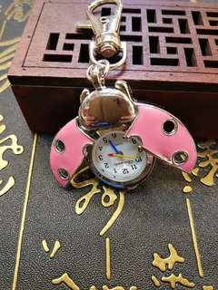 甲蟲款電子掛錶(可做飾物掛手袋)