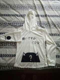 White japanese sweater