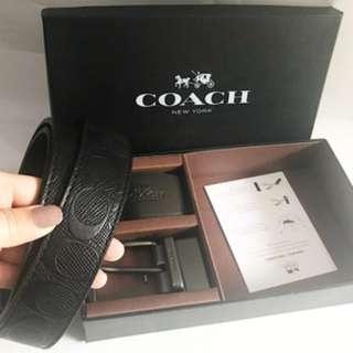 COACH MEN BELT GIFT BOX SIGNATURE REVERSIBLE