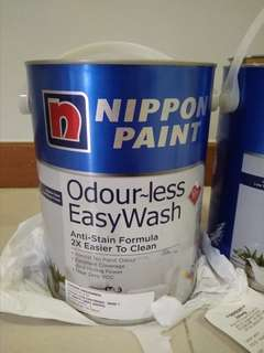 Now $80! Brand New! Nippon Paint Odourless Easy Wash 5l