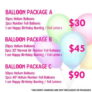 HELIUM BALLOON BIRTHDAY PACKAGE