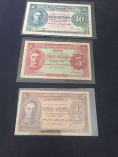 1941 malaya 1,5 & 10 cents