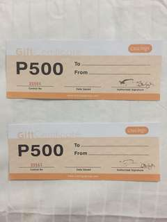 2 for 600. Cravings Gift Certificates for sale. Cheap