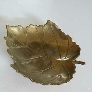 意大利手工銅制風葉碟,厚銅質感,值得收藏和自用