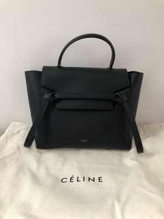 CELINE micro belt bag black