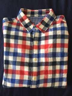 Uniqlo 男童 格紋 法蘭絨 襯衫 #五十元好物