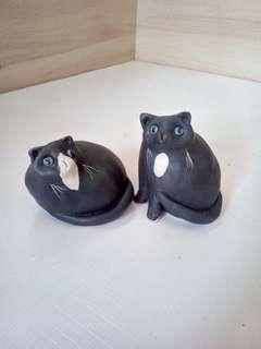 黑貓 (陶) 2入