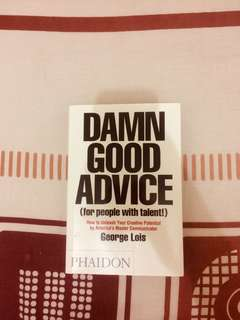 Book by George Lois - Damn Good Advice (Phaidon)