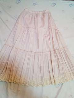 Pleated Lace Maki Skirt