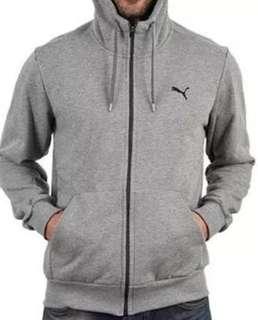Men's puma grey hoody L