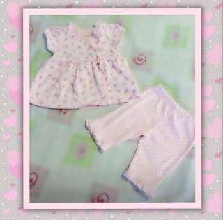 Roses & Dots Top & Pants for Baby Girl