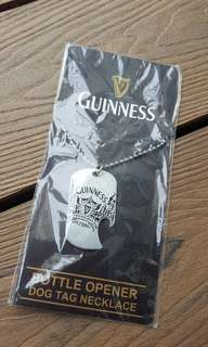 Guinness necklace bottle opener