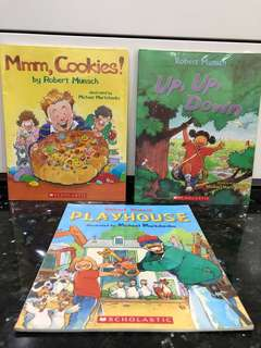 English Children Story Books Robert Munsch Phonics Toys Education (Good Condition)