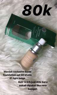 TURUN HARGA Wardah exclusive liquid foundation shade light beige