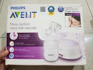 PHILIPS AVENT SINGLE ELECTRIC BREAST PUMP GOOD CONDITION